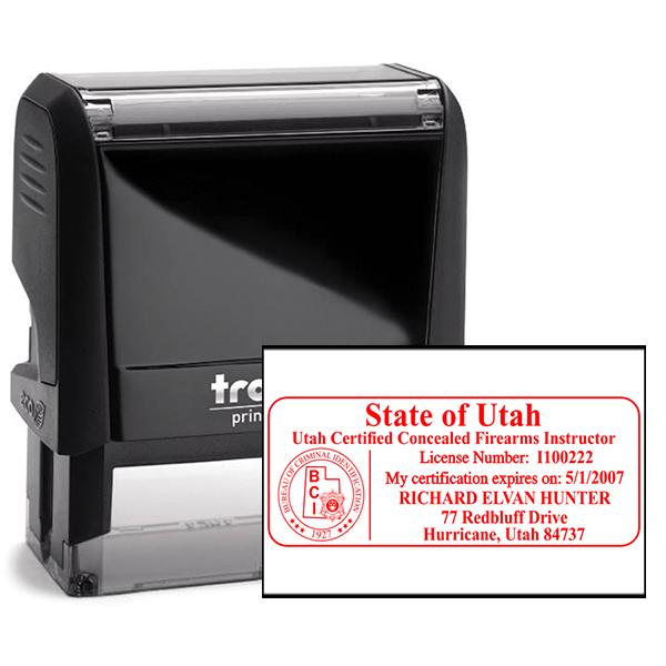 Utah Concealed Firearms Instructor Seal