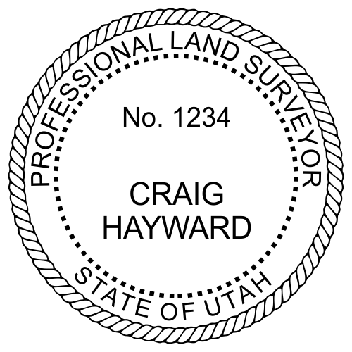 Utah Land Surveyor Stamp Seal