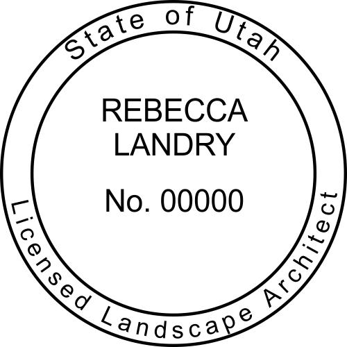 Utah Landscape Architect Stamp Seal