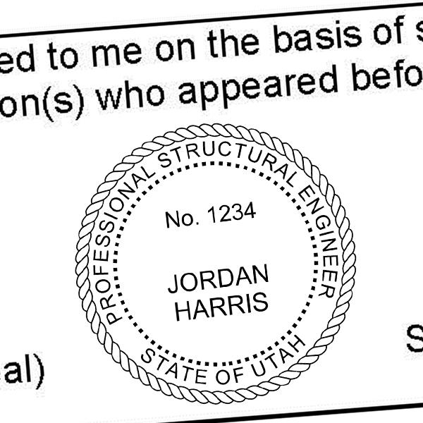 State of Utah Structural Engineer Seal Imprint