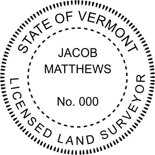 Vermont Land Surveyor Stamp Seal