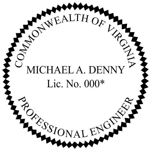Virginia Engineer Stamp Seal