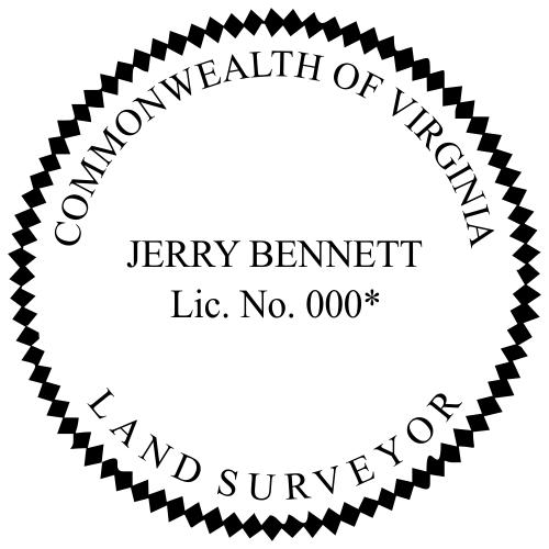 Virginia Land Surveyor Stamp Seal