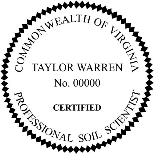 Virginia Soil Scientist Stamp Seal