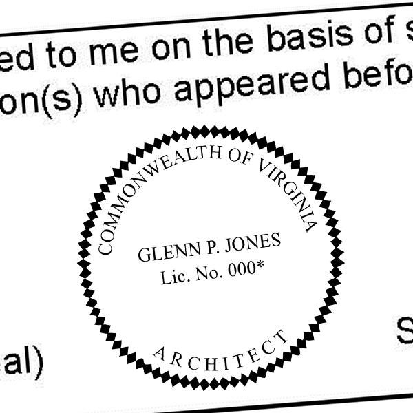 State of Virginia Soil Scientist Seal Imprint