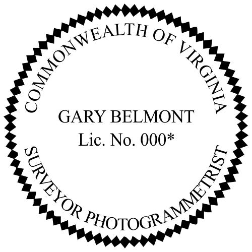 Virginia Survey Photogrammetrist Stamp Seal