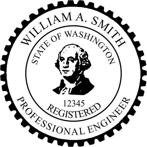 Washington Engineer Stamp Seal