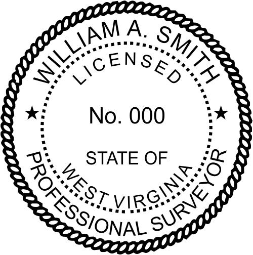 West Virginia Land Surveyor Stamp Seal