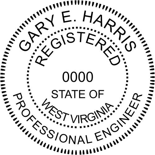 West Virginia Engineer Stamp Seal