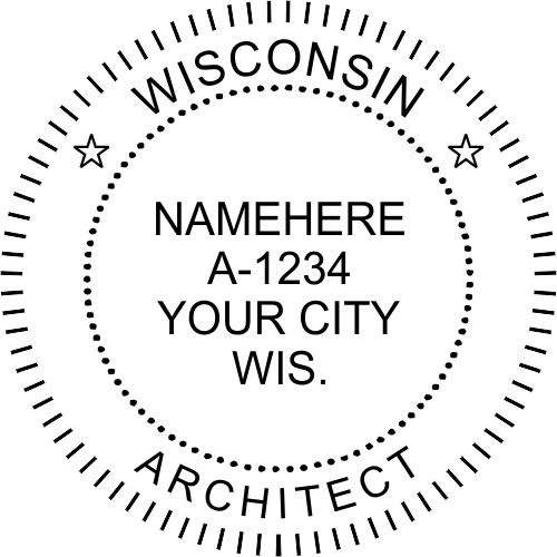 Wisconsin Architect Stamp Seal