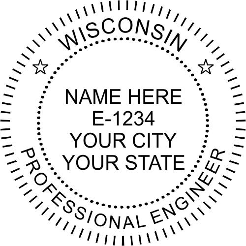 Wisconsin Engineer Stamp Seal