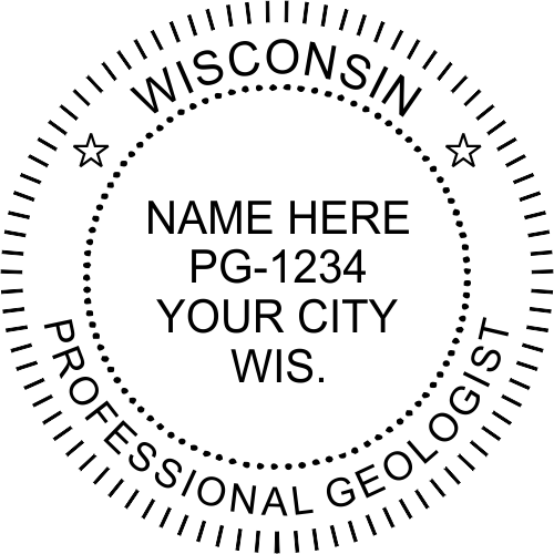 Wisconsin Geologist Stamp Seal