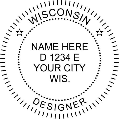 Wisconsin Designer Stamp Seal