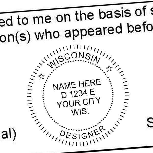 State of Wisconsin Interior Designer Seal Imprint