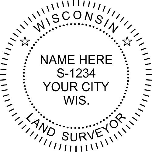 Wisconsin Land Surveyor Stamp Seal