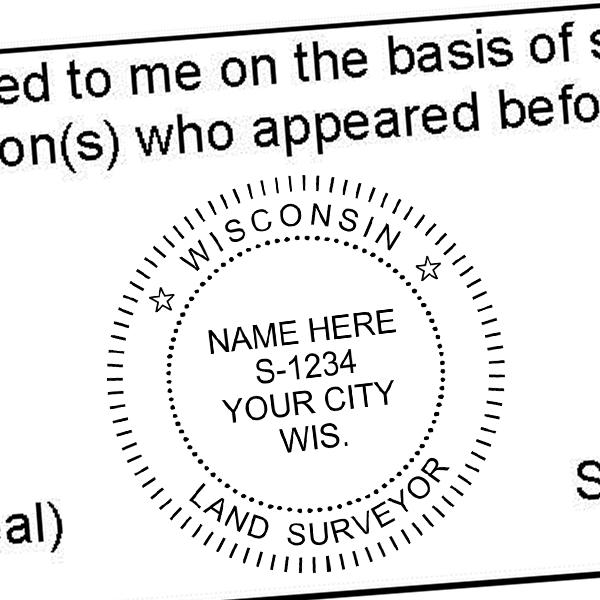 State of Wisconsin Land Surveyor Seal Imprint