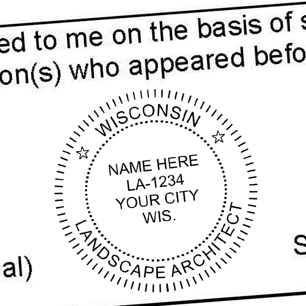 State of Wisconsin Landscape Architect Seal Imprint