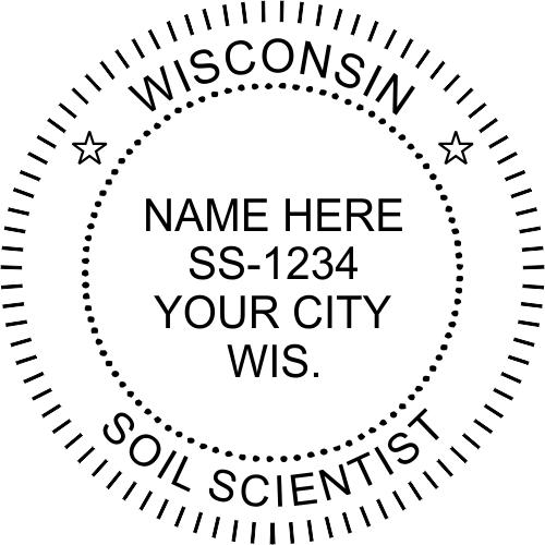 Wisconsin Soil Scientist Stamp Seal