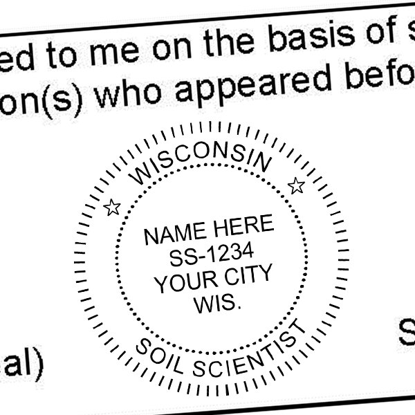 State of Wisconsin Soil Scientist Seal Imprint