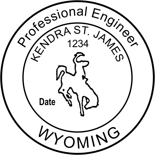 Wyoming Engineer Stamp Seal
