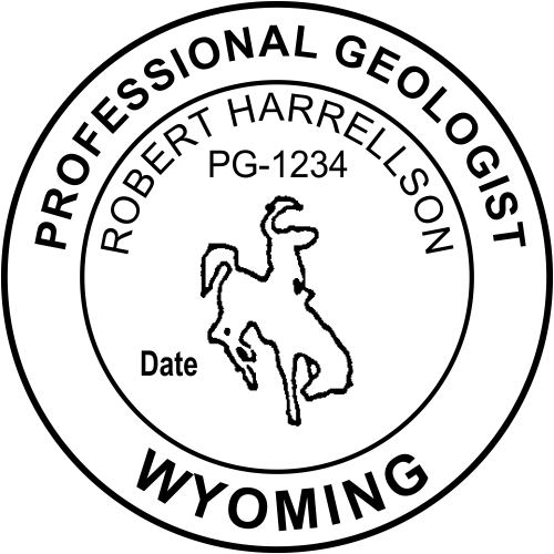 Wyoming Geologist Stamp Seal