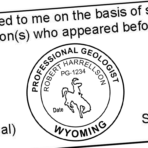 State of Wyoming Geologist Seal Imprint