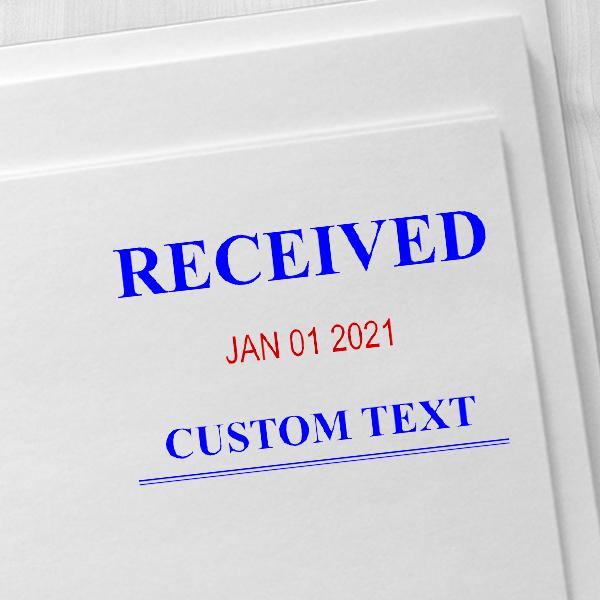 Received News Font Dater Stamp Imprint Examples on Envelopes
