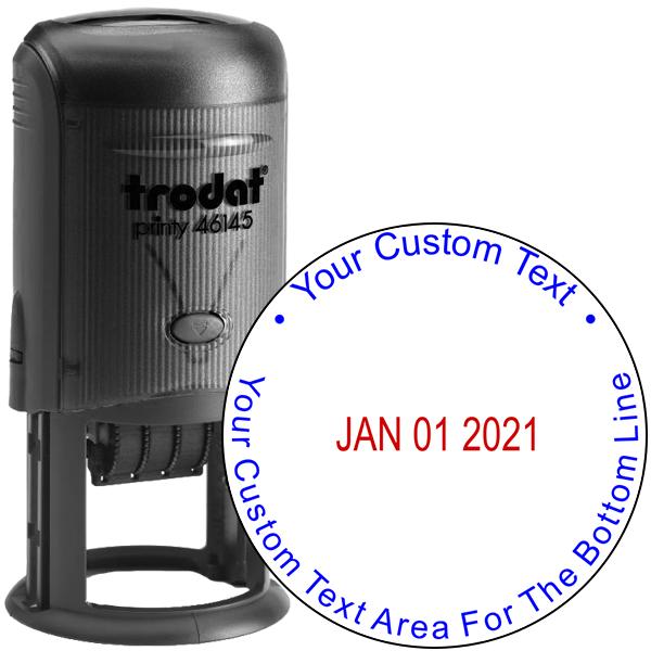 Custom Text Round Dater Stamp