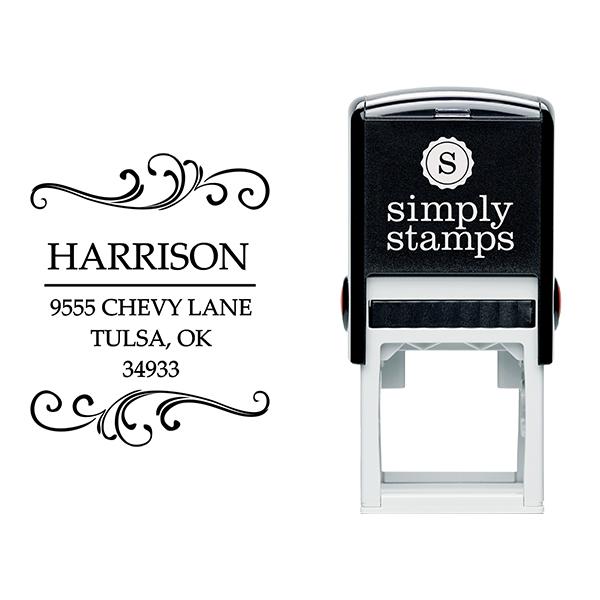 Harrison Square Address Stamp Body and Design