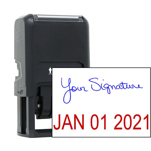 Signature Date Custom Rubber Stamp - Date Bottom