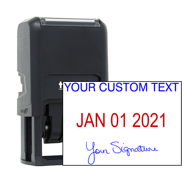 Self-Inking Dater with Signature and Custom Text