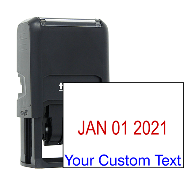 Self-Inking Signature Stamp with Custom Text and Dater