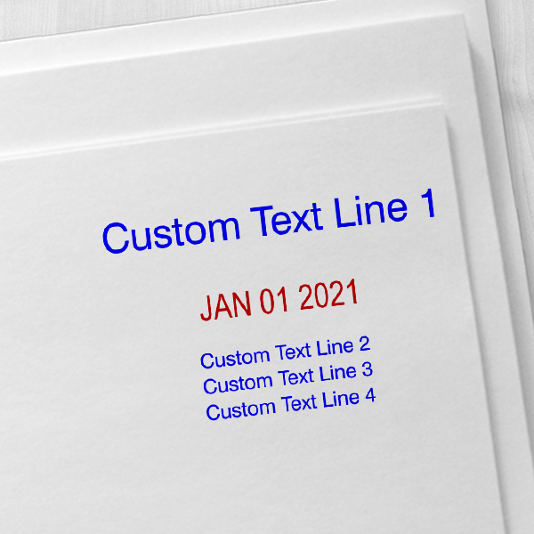 1 Top Line 3 Bottom Date Stamp Imprint Examples on Envelopes