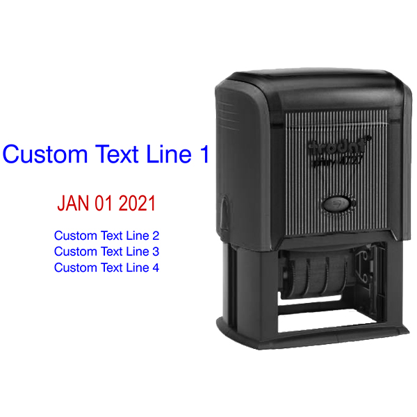 1 Top Line 3 Bottom Date Stamp Body and Design
