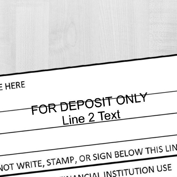 2 Line Deposit Stamp Imprint Example