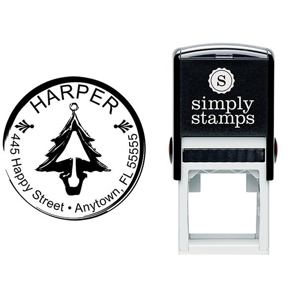 Christmas Address Stamp Body and Design