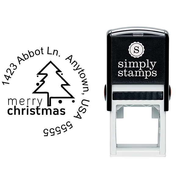 Merry Christmas Address Stamp Body and Design