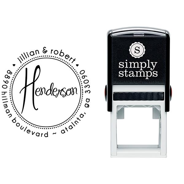 Henderson Round Address Stamp Body and Design