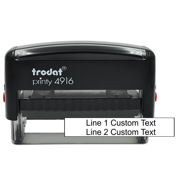 2 Line Custom Rubber Stamp