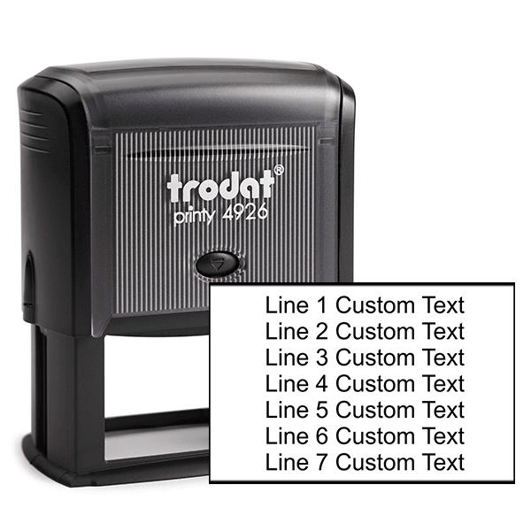 7 Line Custom Rubber Stamp