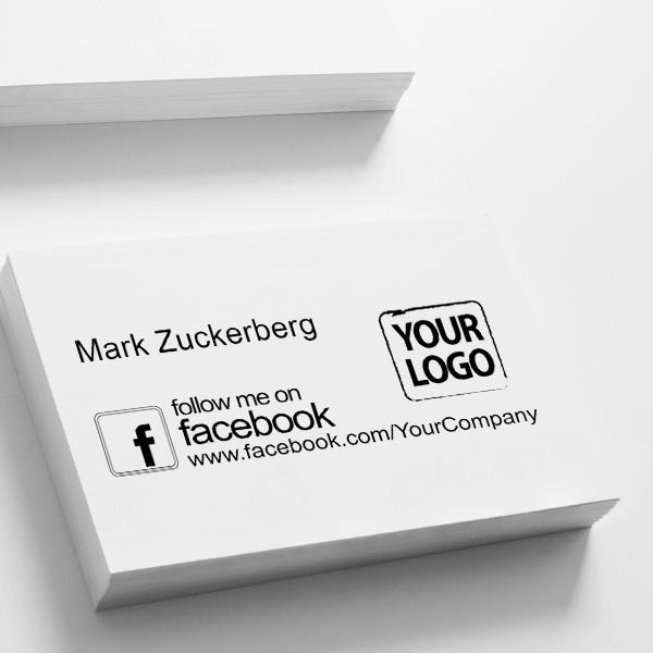 Follow Me on Facebook Logo Stamp Imprint on Paper