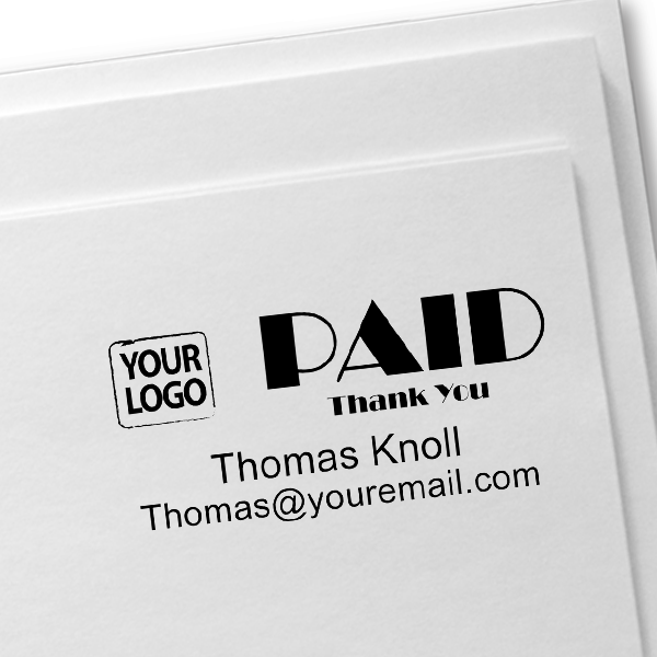 PAID Custom Logo Stamp Imprint on Paper
