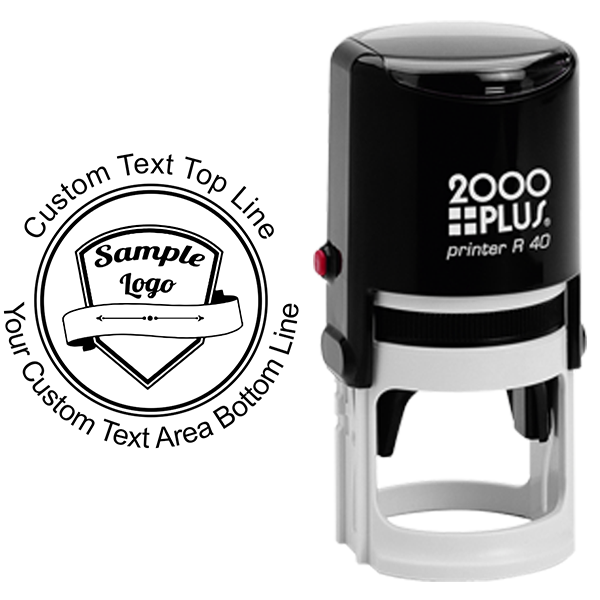 Round Logo Stamp with Custom Text - Stamp Body and Design