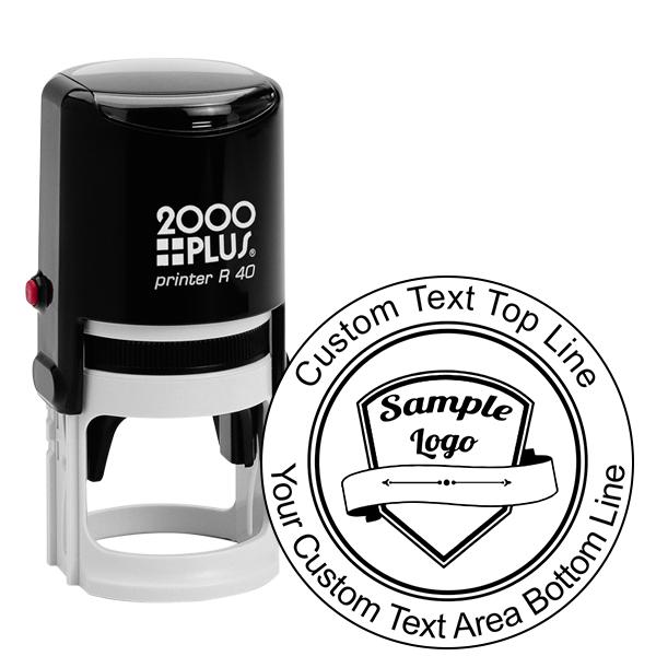 Round Logo Stamp with Custom Text