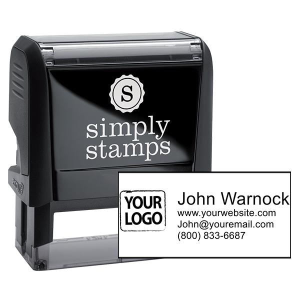 Self-Inking Logo Stamp with Custom Text