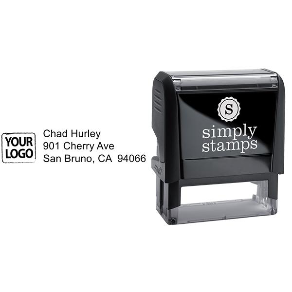 Custom Logo Return Address Stamp Body and Design