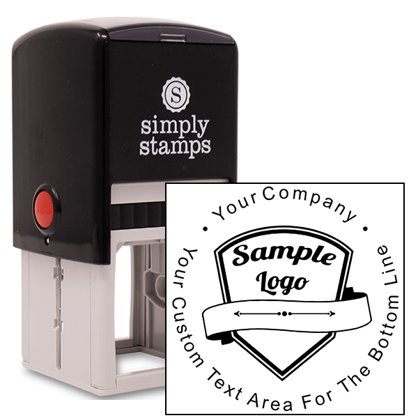 Custom Rubber Stamp - Round with Your Logo