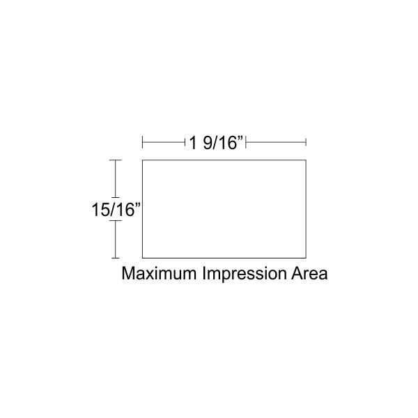 Customizable Trodat Professional 5200 Impression Area