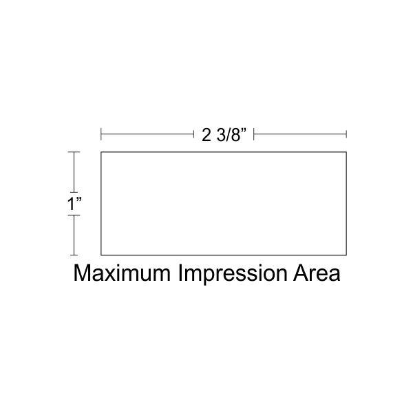 Customizable Trodat Professional 5204 Design Area