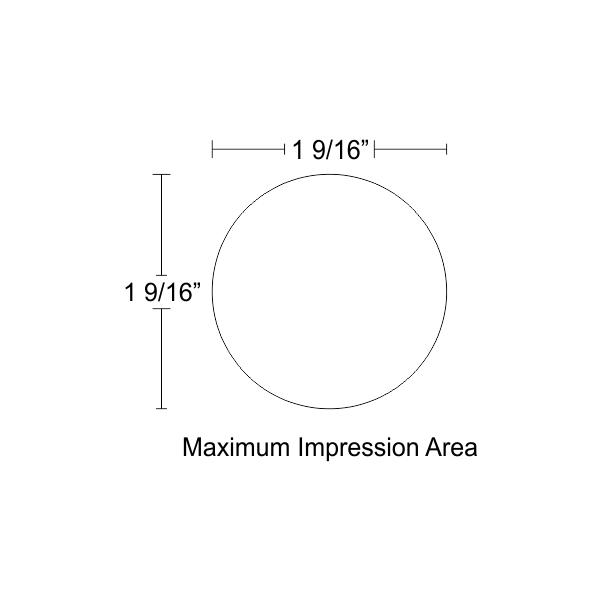 Customizable Trodat Round Professional 520455 Design Area